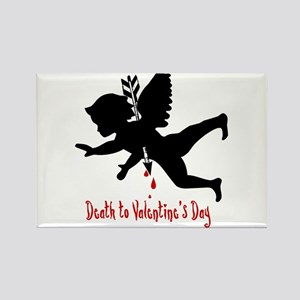 Death to Valentines Day Rectangle Magnet