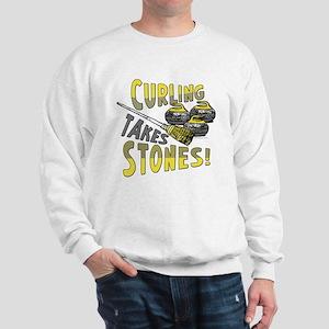 Curling Stones Yellow Sweatshirt