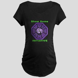 Dharma neon Maternity Dark T-Shirt