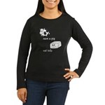 Save a Cow Eat Tofu Women's Long Sleeve Dark T-Shi