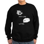 Save a Cow Eat Tofu Sweatshirt (dark)
