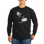 Save a Cow Eat Tofu Long Sleeve Dark T-Shirt