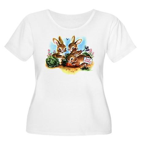 Bunny Patch Women's Plus Size Scoop Neck T-Shirt