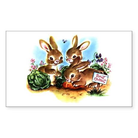 Bunny Patch Sticker (Rectangle)