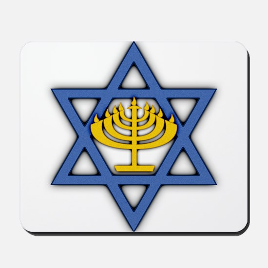 Star of David with Menorah Mousepad