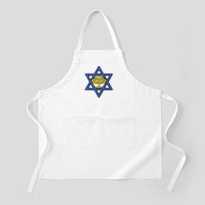 Star of David with Menorah BBQ Apron