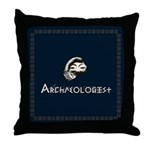 Archaeologist Throw Pillow