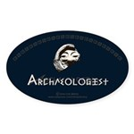 Archaeologist Sticker (Oval 10 pk)