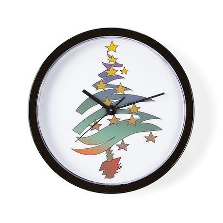 Funky Christmas Tree Wall Clock