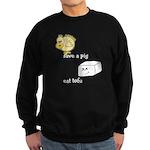 Save a Chicken Eat Tofu Sweatshirt (dark)