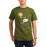 Save a Chicken Eat Tofu Organic Men's T-Shirt (dar