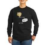 Save a Chicken Eat Tofu Long Sleeve Dark T-Shirt