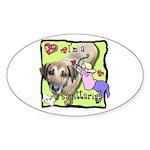 I'm a Sagittarius Sticker (Oval)