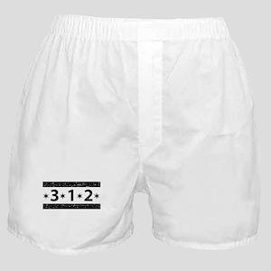 312 Black Boxer Shorts