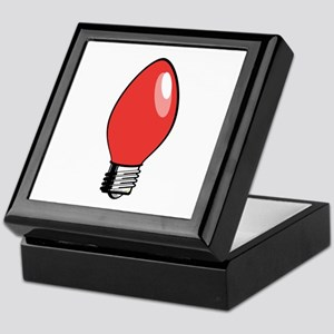 Red Christmas Tree Light Bulb Keepsake Box