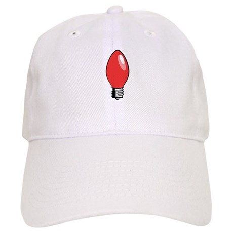d358177b9b6dc Red Christmas Tree Light Bulb Baseball Cap by wheeholiday