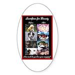 Sacrifices Sticker (Oval 50 pk)