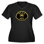 Weed Police Women's Plus Size V-Neck Dark T-Shirt