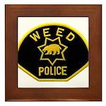 Weed Police Framed Tile