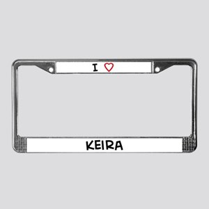 I Love Keira License Plate Frame