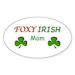 Foxy Irish Mom - 2 Sticker (Oval)