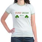 Foxy Irish Mom - 2 Jr. Ringer T-Shirt