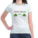 Foxy Irish Mom - 2 Jr. Ringer T-Shirt