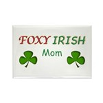 Foxy Irish Mom - 2 Rectangle Magnet (100 pack)