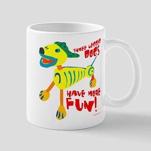 Three Legged Dogs More Fun Mug