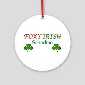 Foxy Irish Grandma - 2 Ornament (Round)