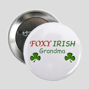 "Foxy Irish Grandma - 2 2.25"" Button"