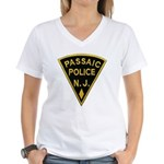 Passiac Police Women's V-Neck T-Shirt