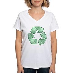 Path to Recycling Women's V-Neck T-Shirt