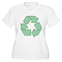 Path to Recycling Women's Plus Size V-Neck T-Shirt