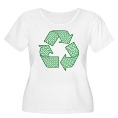 Path to Recycling Women's Plus Size Scoop Neck T-S