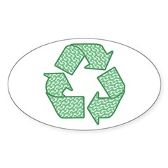 Path to Recycling Sticker (Oval)