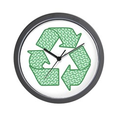Path to Recycling Wall Clock