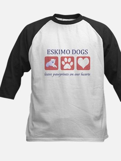 Eskimo Dog Lover Kids Baseball Jersey