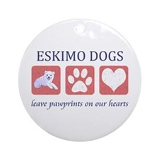 Eskimo Dog Lover Ornament (Round)