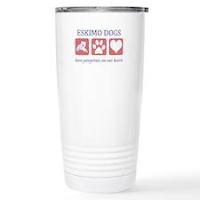 Eskimo Dog Lover Stainless Steel Travel Mug