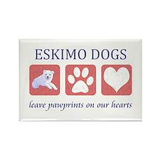 Eskimo Dog Lover Rectangle Magnet