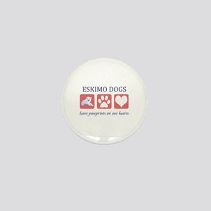 Eskimo Dog Lover Mini Button