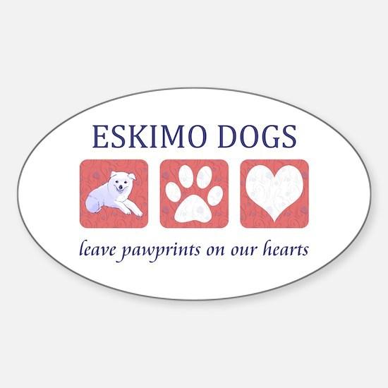 Eskimo Dog Lover Sticker (Oval)