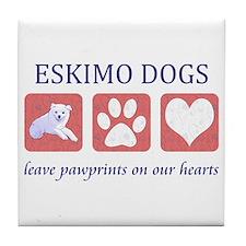 Eskimo Dog Lover Tile Coaster