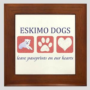 Eskimo Dog Lover Framed Tile