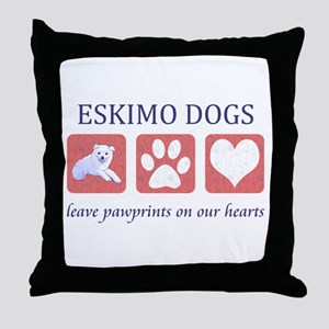 Eskimo Dog Lover Throw Pillow