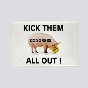 KICK THEM ALL OUT Rectangle Magnet (10 pack)