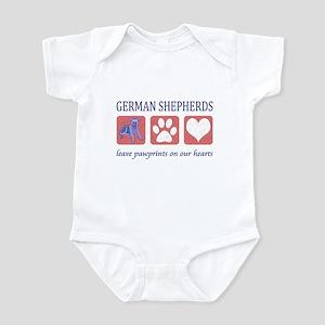 German Shepherd Pawprints Infant Bodysuit