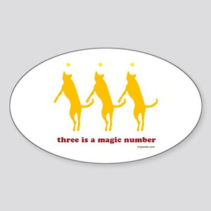 Magic Number 3 Sticker (Oval)