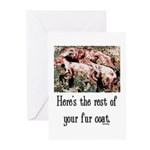 Rest of Your Fur Coat Greeting Cards (Pk of 20)